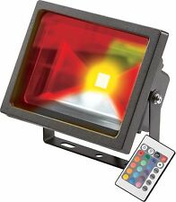 Knightsbridge IP65 20W Negro RGB Luz LED foco c/con Mando A Distancia & Memoria