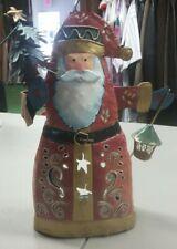 Santa Claus Tin Candle Holder Hollow Christmas Decoration Christmas Tree