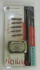 Manuscript Calligraphy Leonardt Dip Pen and Nibs - Round Hand Set 1 - BNIB