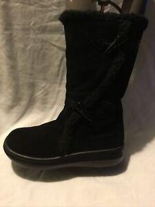 Rocket Dog Ladies Mid Calf Boots UK Size 4 EU Size 37 Black Suede