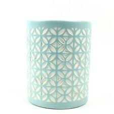 Allure Felix Ceramic Aqua Blue Textured Bathroom Tumbler Cup