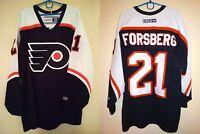 Rare Vintage Philadelphia Flyers #21 Forsberg CCM hockey jersey trikot sz XL