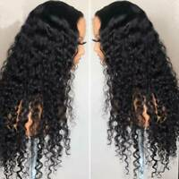 100% Real Brazilian Virgin Human Hair Wig Full Wigs Deep Wave Curly Glueless Mkl