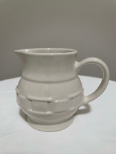 Longaberger-Woven Traditions-Pottery- Ivory Creamer 8 Oz