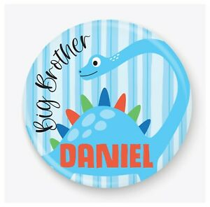 Personalised Big Brother Dinosaur Badge