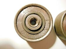 2 Vintage Union Hardware Co. 1920'S Metal Roller Skate Replacement Wheels Parts