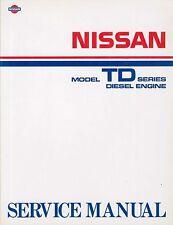 1986 NISSAN TD SERIES DIESEL ENGINES WERKSTATTHANDBUCH WORKSHOP MANUAL ENGLISCH