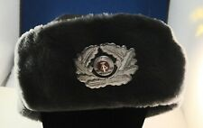 EAST GERMAN WINTER FUR HAT COLD WAR WARSAW PACT COLLECTIBLE MINT UNISSUED