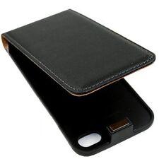 iPhone 4 Ledertasche schwarz Tasche Case Hülle Cover Schutz Flip 1A 4s 4g sk24