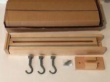 Glideware Pullout Cabinet Organizer Maple 3 Hooks for Kitchen Pots Pans More