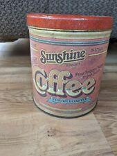 Vintage Sunshine Brand Coffee Tin Can