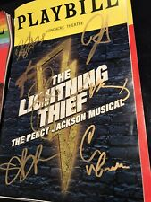 The Lightning Thief Full Cast Signed Broadway Playbill Musical Percy Jackson