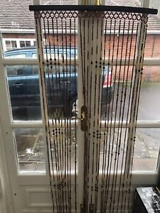 beaded door curtain Wooden Lovely Well Made Good Condition