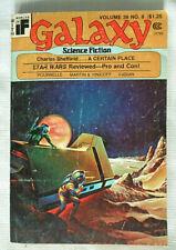 Galaxy Science Fiction Volume 38 # 8 1977 Charles Sheffield Star Wars Pro & Con