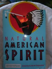 Vintage Natural American Spirit Cigarette Metal Advertising Sign 19 X 12