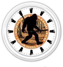Bigfoot Sasquatch SILENT Wall Clock - Bigfoot Tracker Hunter  - FUNNY GIFT