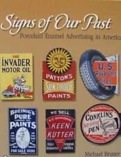 LIVRE/BOOK : plaque émaillée vintage américaine,garage,essence,huile,thermomètre