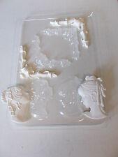 Molde de plástico hace que las esquinas y camafeos de cera de yeso Chocolate