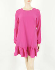 Essentiel Antwerp Long Sleeved Silk Dress Pink 36 $345 8604 BM7 -FLAW
