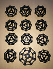 12 New Old Stock Gate Valve Handles Steampunk Industrial All Black 11 Heavy Nice