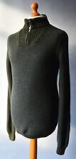 """Men's Green Lacoste Zip Neck Wool Blend Jumper Size 2/XS/38""""."""