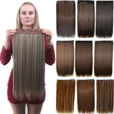 43 Colors New Women Synthetic Straight Soft Hairpieces 5 Clip In Hair Extension