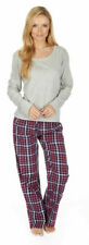 Ladies Pyjama Set Xmas Gift Womens Jersey Top Woven Pant Nightwear Sleepsuit New