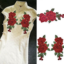 New listing 1 Pair Embroidery RoseFlower Sew On Patch Badge Bag Jeans Dress AppliqueCraBlus