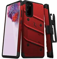 ZIZO Bolt Series for Galaxy S20 Case Cover with Kickstand Holster Lanyard - Red