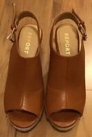 Report Womens Wedge Sandals Size 7 Brown