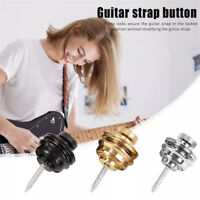 Guitar Strap Button Lock Buckle Skidproof Acoustic Electric Bass Strap Parts