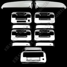 For FORD F150 2009-2014 Chrome Covers Set Top Mirrors+4 Doors Keypad+Tailgate KH