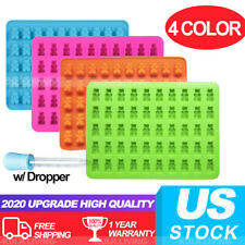 4 Colors Gummy Bear Moulds Chocolate Silicone Ice Cube Trays Candy for Kid Party