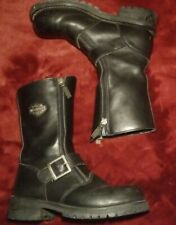 Harley Davidson 81994 Womens Boots Sz 6.5 Black Leather Motorcycle