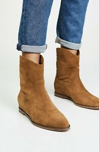 NEW Vince Sinclair Suede Western Cowboy Ankle Boots, Brown Size 7.5 $375
