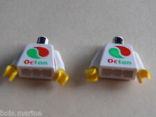 Lego 2 torses set 6597 6539 6663 6548 /2 white torso from minifig