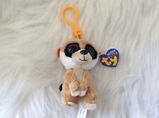 Ty Beanie Boos Rebel The Meerkat Key Clip- Mint With Mint Tag -Eyes Solid Color