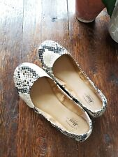 Girls Bass Faux Snakeskin Ballet Flats Lexi 5M Synthetic Leather