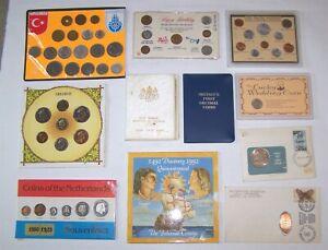 World Coin Mint sets Turkey Nederland Japan Britain Bahamas Wildlife 6 Pence +