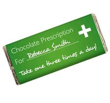 Personalised Get Well Soon Chocolate Bar Novelty Present Funny Gift Idea