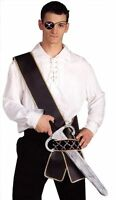 Pirate Sword Sash Costume Accessory Prop Skull Crossbones Steampunk Black Sash