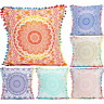 """Indian Cotton Ombre Cushion Cover Square Pillowcase Sham Throw Pillow Cover 16"""""""