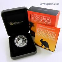 2013 KANGAROO HIGH RELIEF SILVER PROOF 1oz Coin