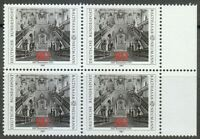 Germany 1987 MNH Mi 1307 Sc 1497 Archbishop's Residence at Wurzburg .Block of 4