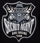 RARE Vintage OOP NHRA SECRET AGENT Drag Racing Team Long Sleeve Size XXL Shirt!