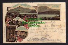 119830 AK Mondsee Litho 1898 Gasthof zur Post Mariahilfberg mit Kirchlein Hochal