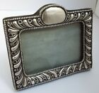 LOVELY GENUINE ENGLISH ANTIQUE VICTORIAN 1901 SOLID STERLING SILVER PHOTO FRAME