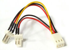 PC Fan Power Splitter Y-Cable 3-Pin Female to 2x Male Lüfter Strom-Kabel Adapter