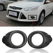 2Pcs Black Front Fog Light Cover Bezels Lamp Trims For Ford Focus 2012-2014