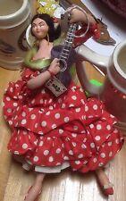 *RARE* VINTAGE LAYNA Flamenco Dancer Dress w/ Guitar